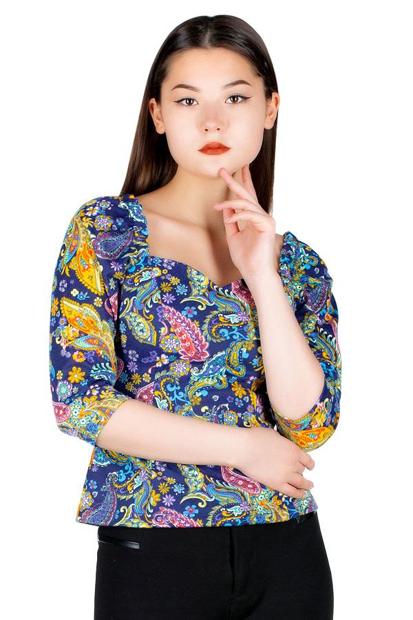 Блуза МР Nisa Синие огурцы