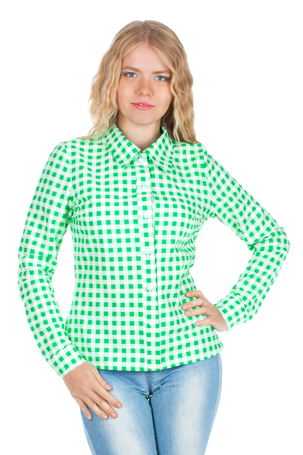 Рубашка длинный рукав Зеленый