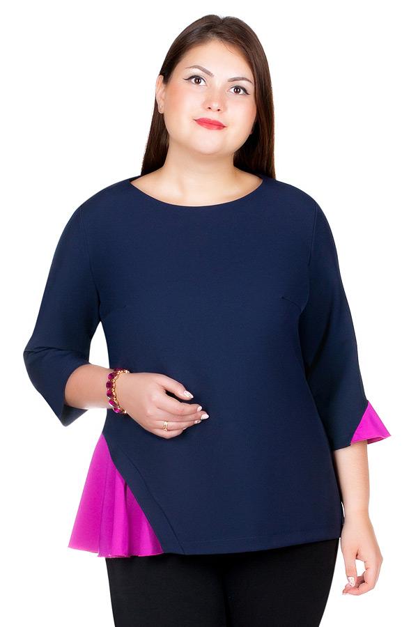 Блуза БР Luminata Темно-синий+фуксия