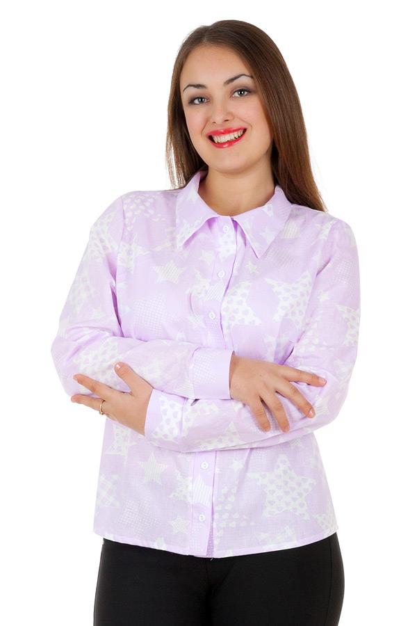 Рубашка БР Принт Звезды большие Сирень