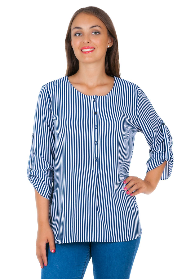 Блуза БР Molly Полоска синяя
