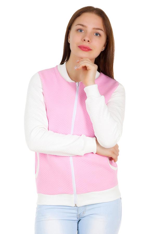Толстовка Victoria Розовый+Молочный