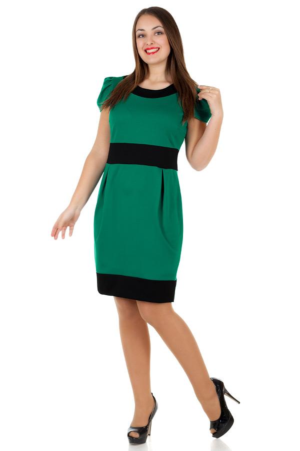 Платье БР Olivia Зеленый+Черный