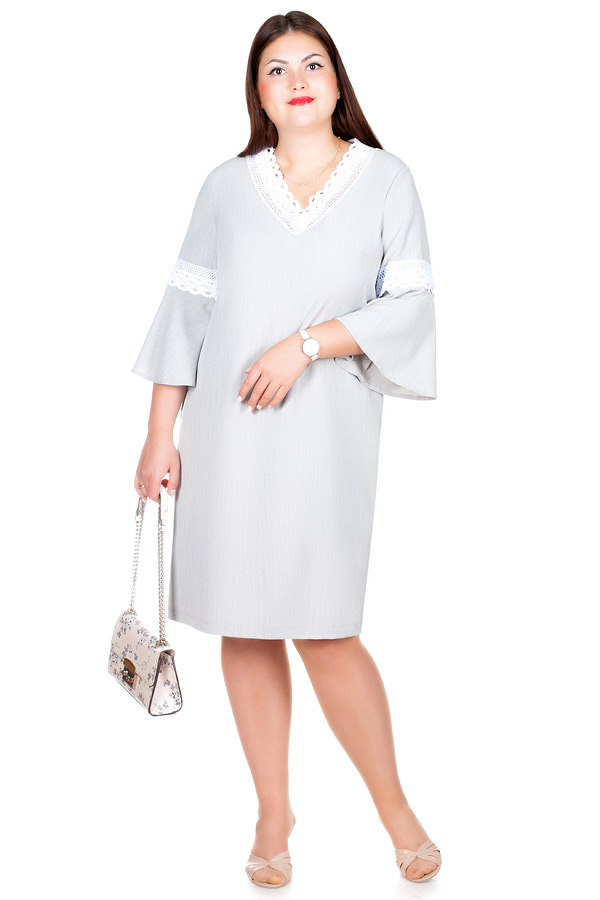 Платье БР Saty Серо-бежевый