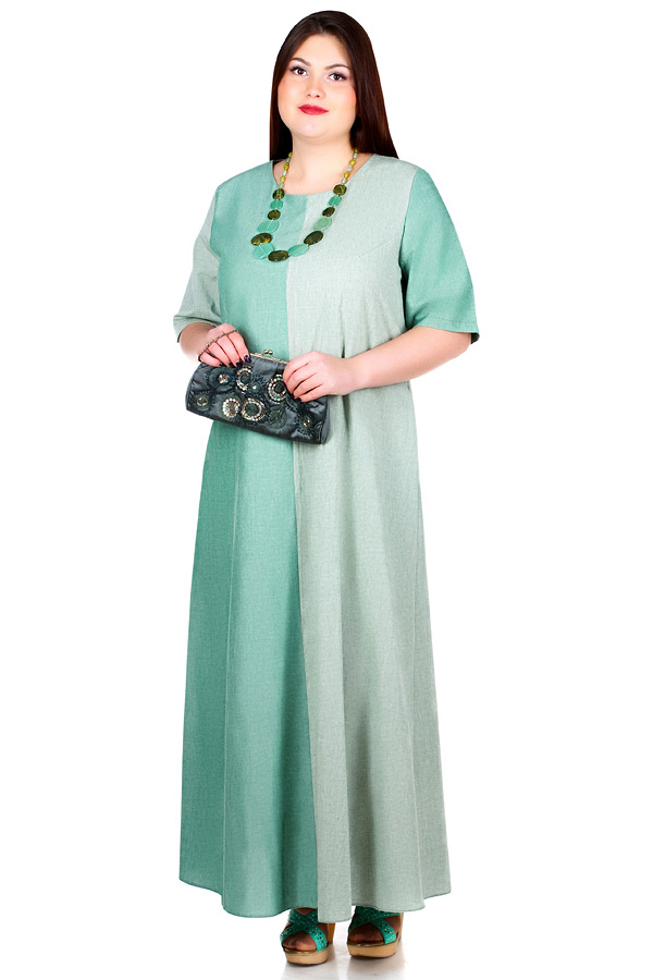 Платье БР Kena Зеленый+Темно-зеленый
