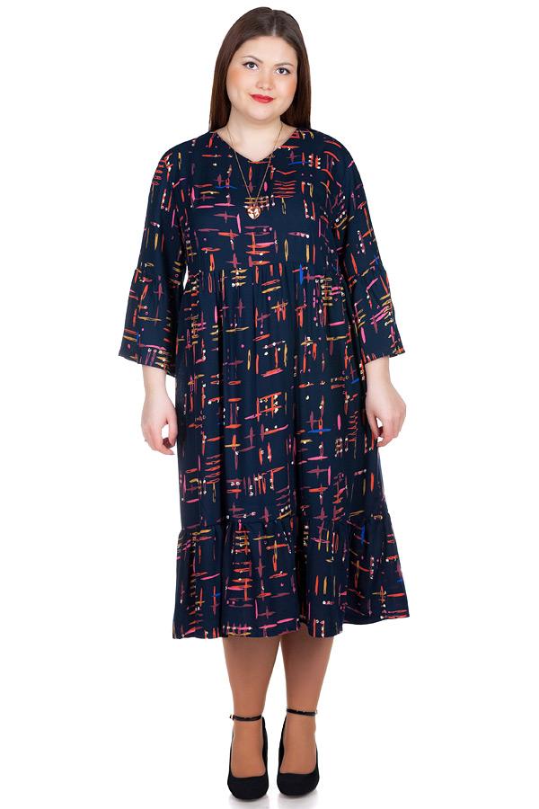 Платье БР Monga Черный+оранж