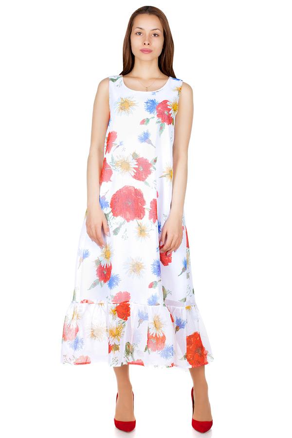 Платье МР Carlota Разноцветные цветы