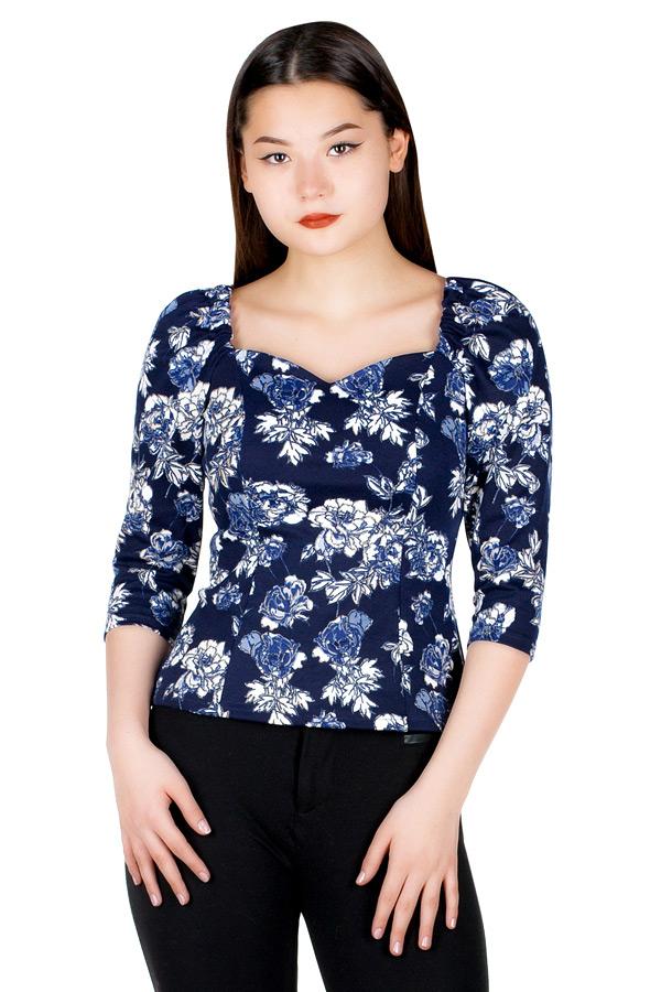 Блуза МР Nisa Синие розы