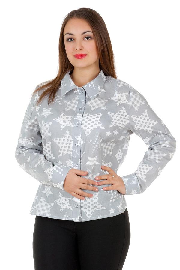 Рубашка БР Принт Звезды большие Серый
