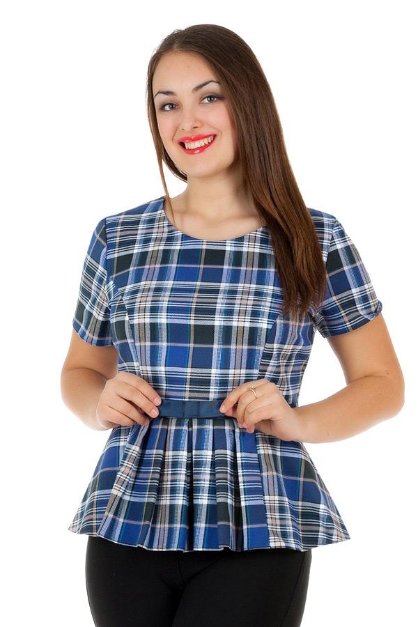 Блуза БР Lucienne Бежевый+Синий