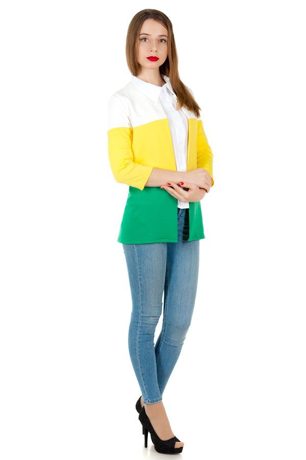Жакет Зебра Желтый+Ярко-зеленый