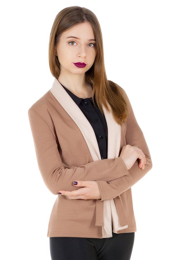 Жакет Sofia Светло-коричневый+Молочный