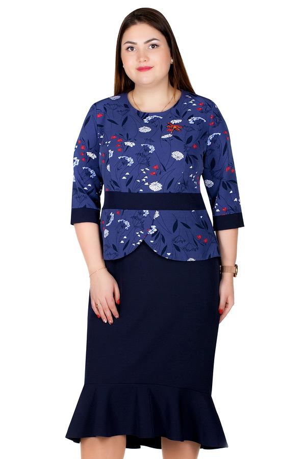 Платье БР Antuanetta Темно-синий с красным
