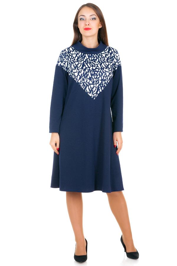 Платье БР Jennifer Льдинки+Темно-синий