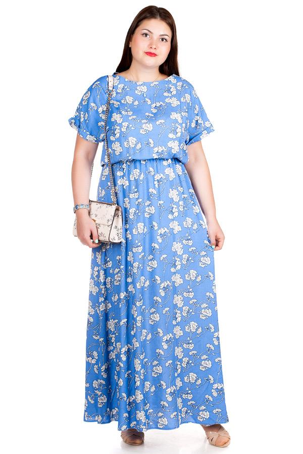 Платье БР Clara2 Маки на голубом