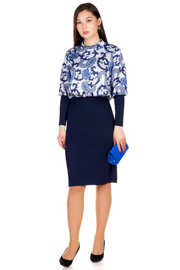 Платье МР Lusina Темно-синий