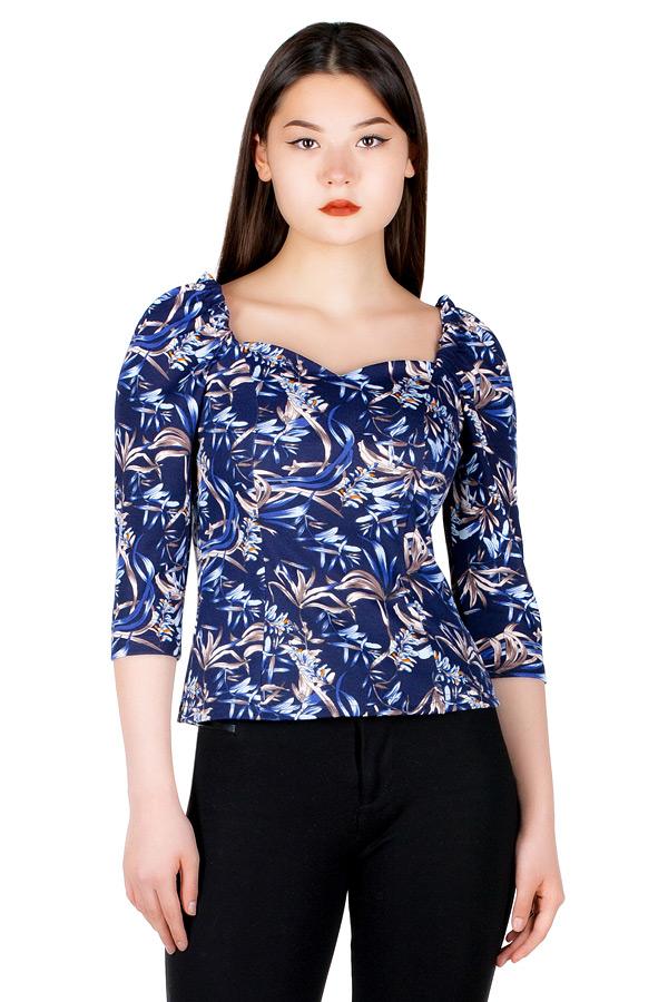 Блуза МР Nisa Синие пальмы