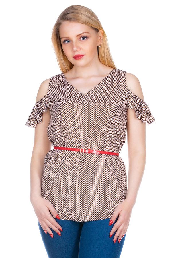 Блузка МР Brenda Соты коричневые