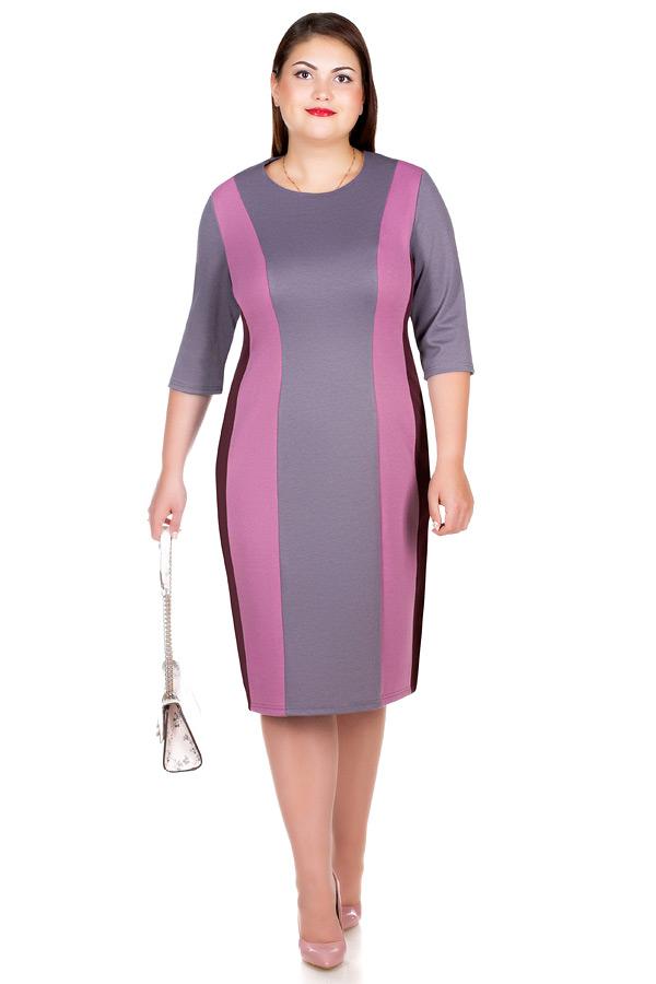 Платье БР Feodora Роза+Светло-серый