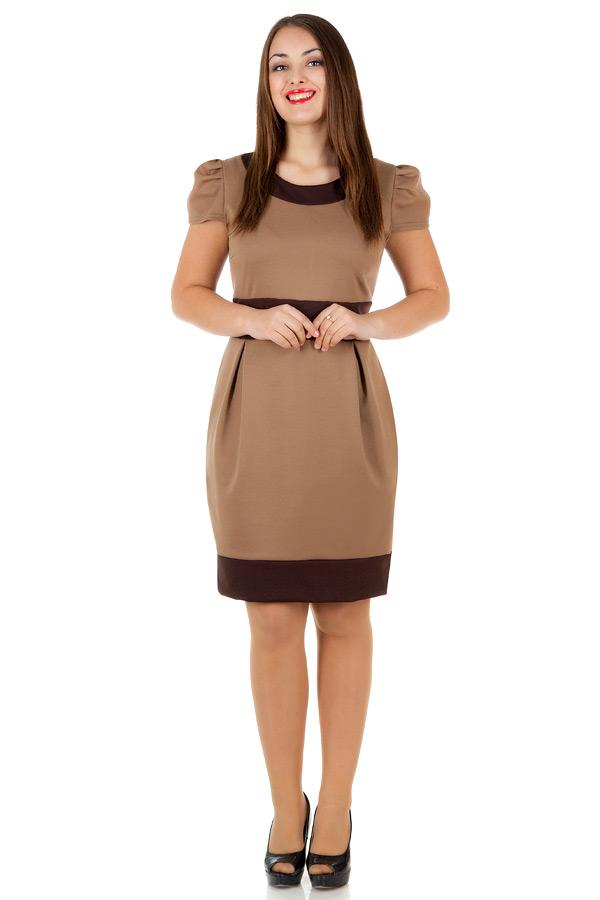 Платье БР Olivia Светло-коричневый+Коричневый