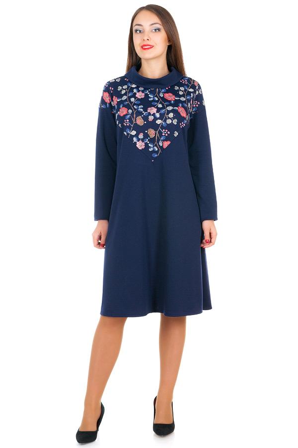 Платье БР Jennifer Розочки+Темно-синий