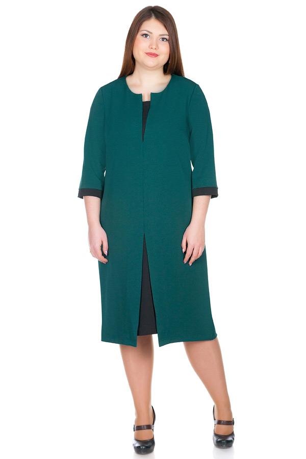 Платье БР Zoe Зеленый+Черный