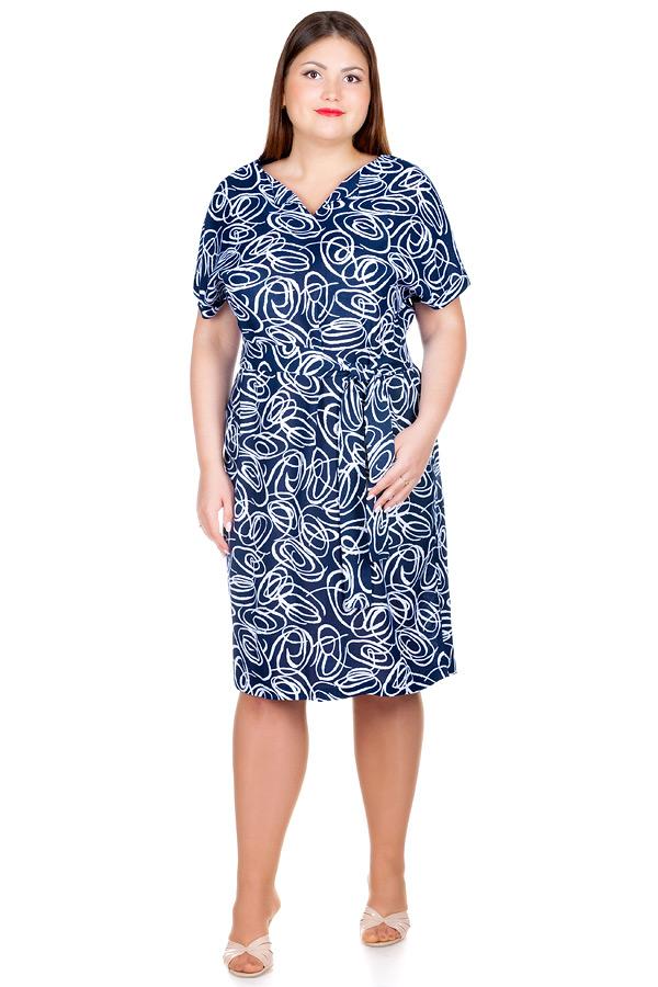 Платье БР Flora Темно-синий
