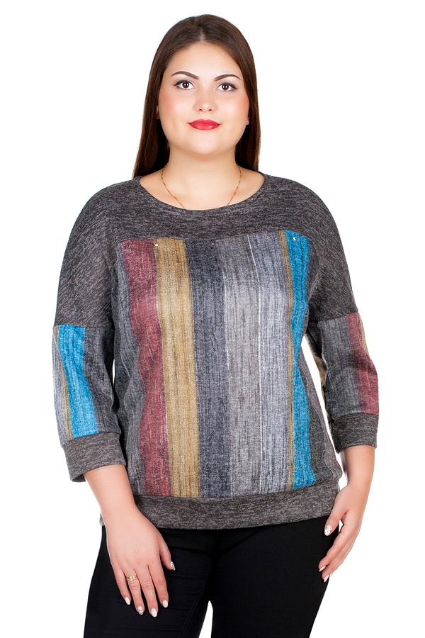 Блуза БР Kosma Принт Яркие полосы