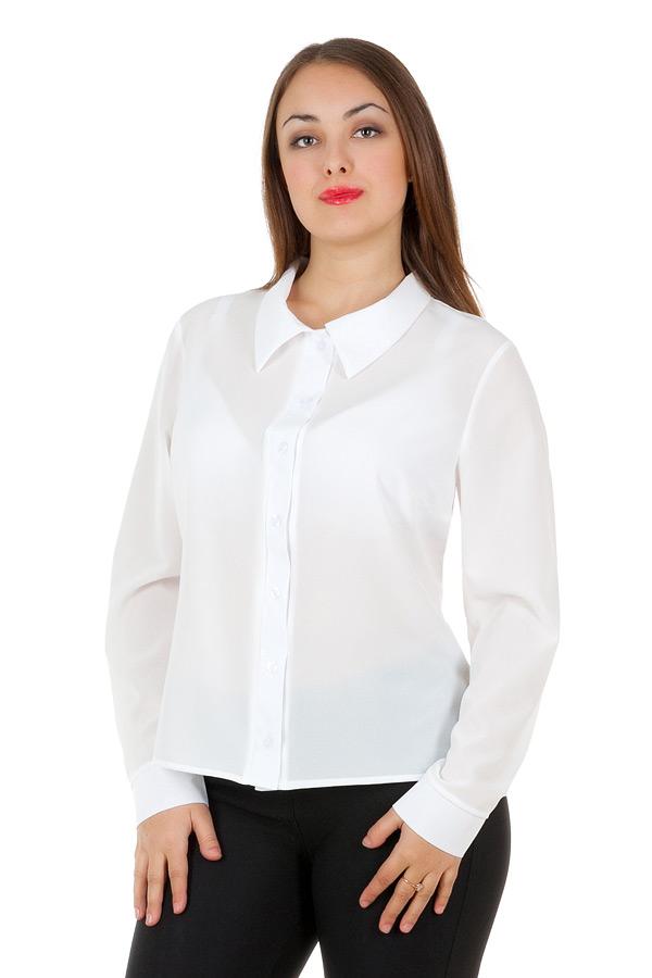 Рубашка БР Длинный рукав Однотон Белый