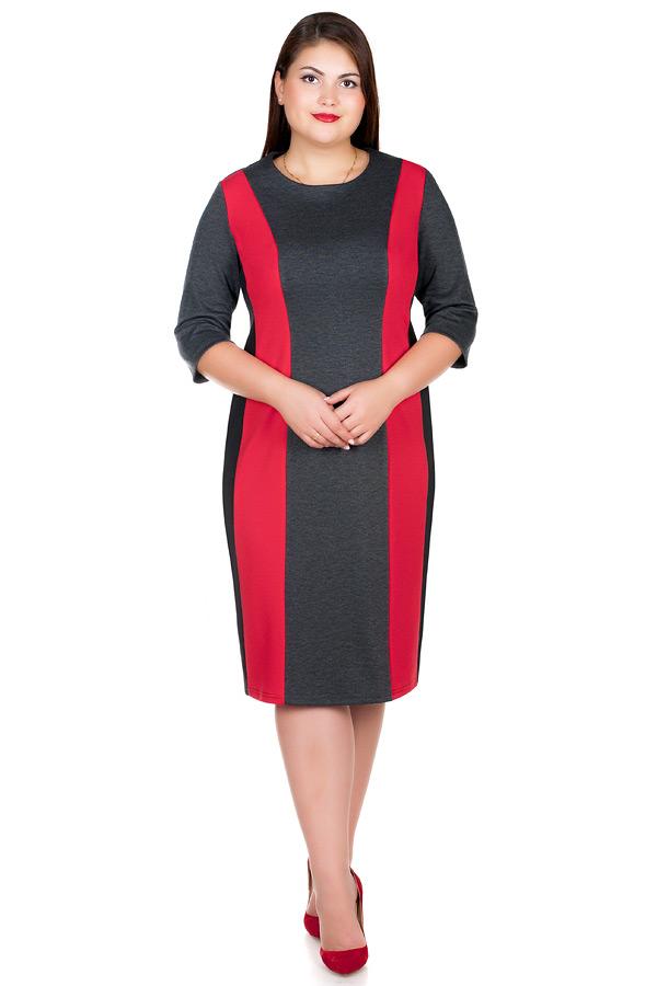 Платье БР Feodora Красный+Серый