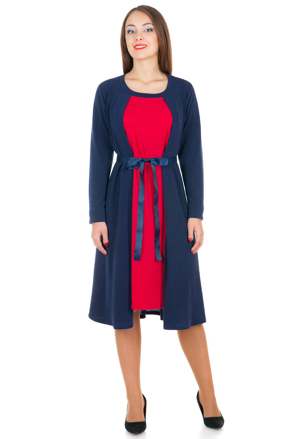 Платье БР Rosemary Бордо+Темно-синий