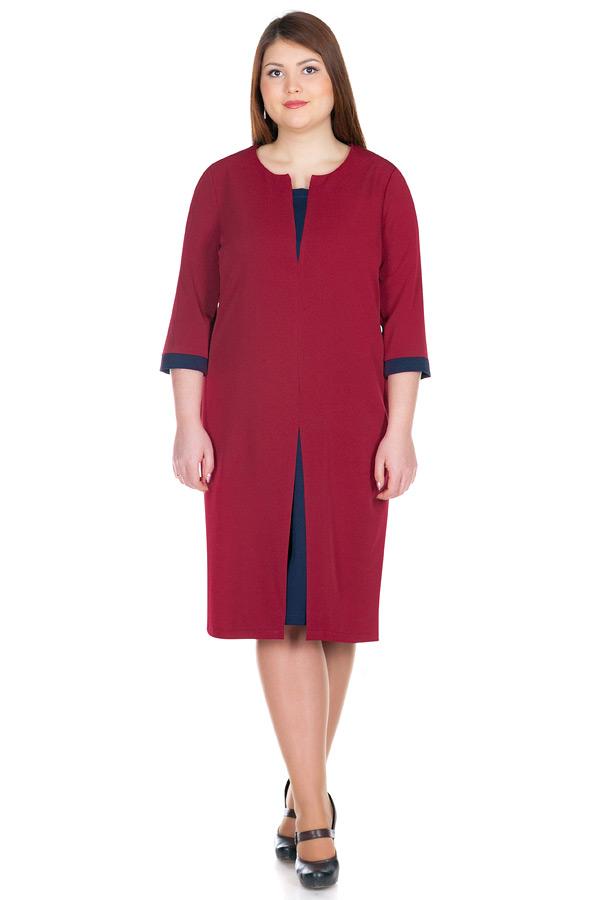 Платье БР Zoe Бордо+Темно-синий