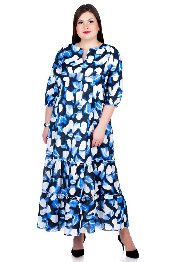 Платье БР Meryl Разводы синие