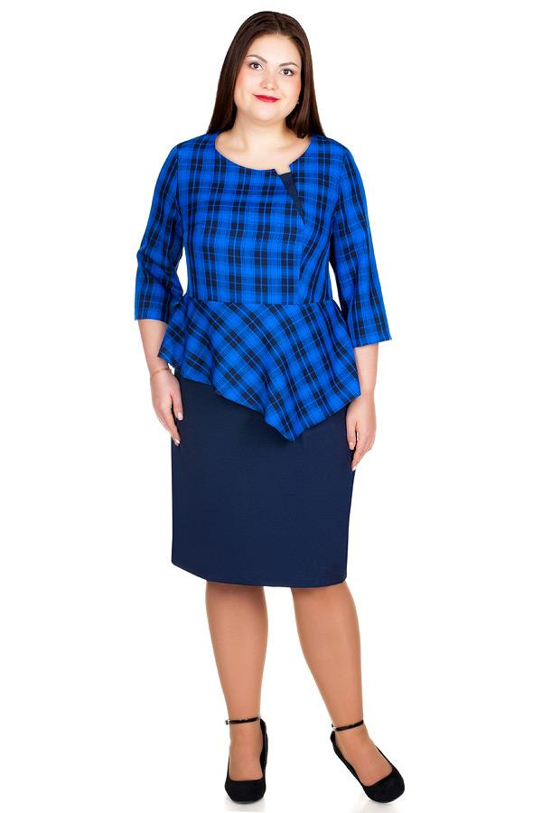 Платье БР Beatrice Василек+Темно-синий