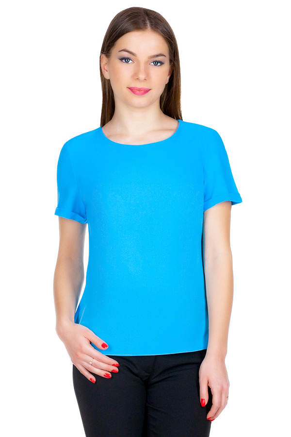 Блуза МР Rayk Ярко-голубой