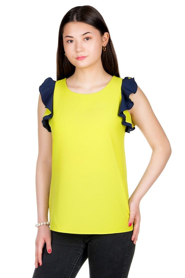 Блуза МР Artis Салатовый+Темно-синий