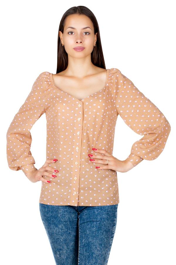 Блузка МР Sabia Ракушки на бежевом