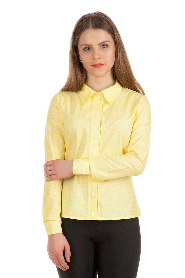 Рубашка длинный рукав Лимонный