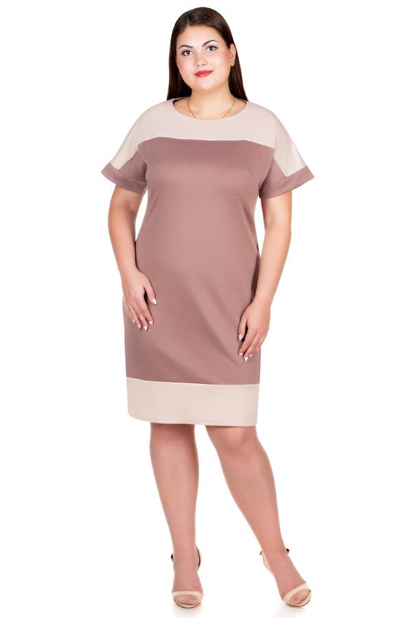 Платье БР Aimee Светло-коричневый+молочный