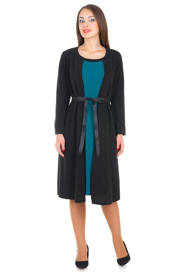 Платье БР Rosemary Бирюза+Черный