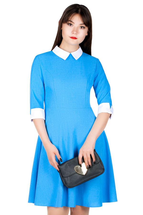 Платье МР Birgita Ярко-голубой