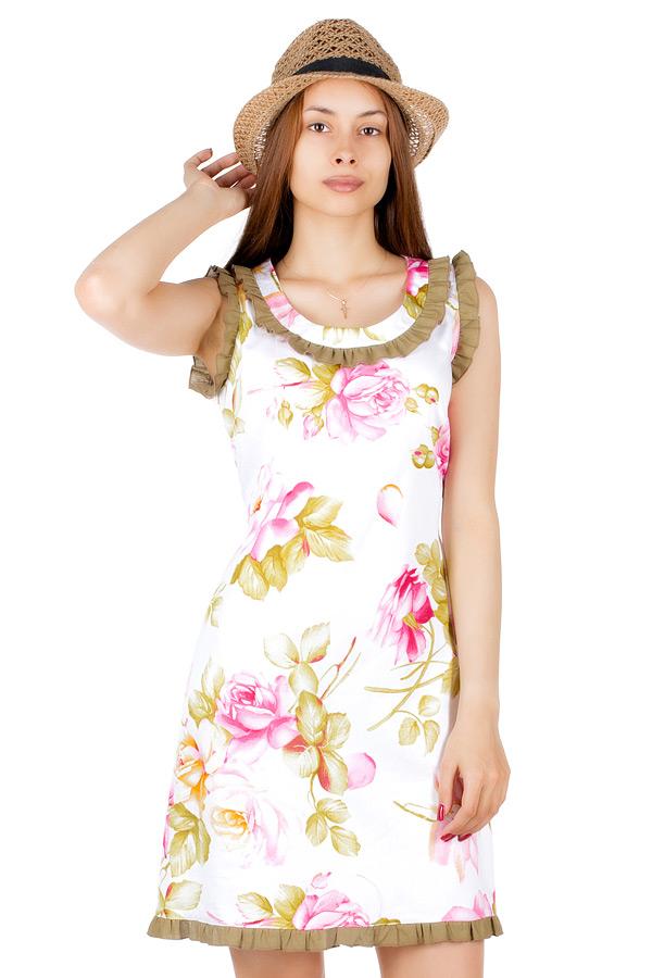 Платье МР Liva Розы на белом