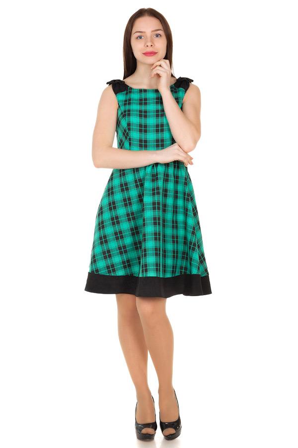 Платье Angelica Клетка зеленый