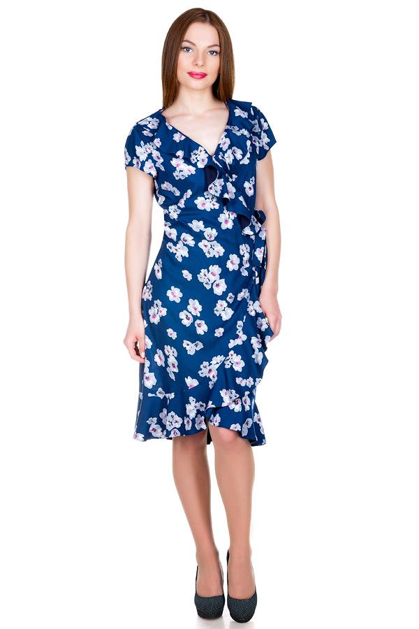 Платье МР Ronda Орхидеи на синем