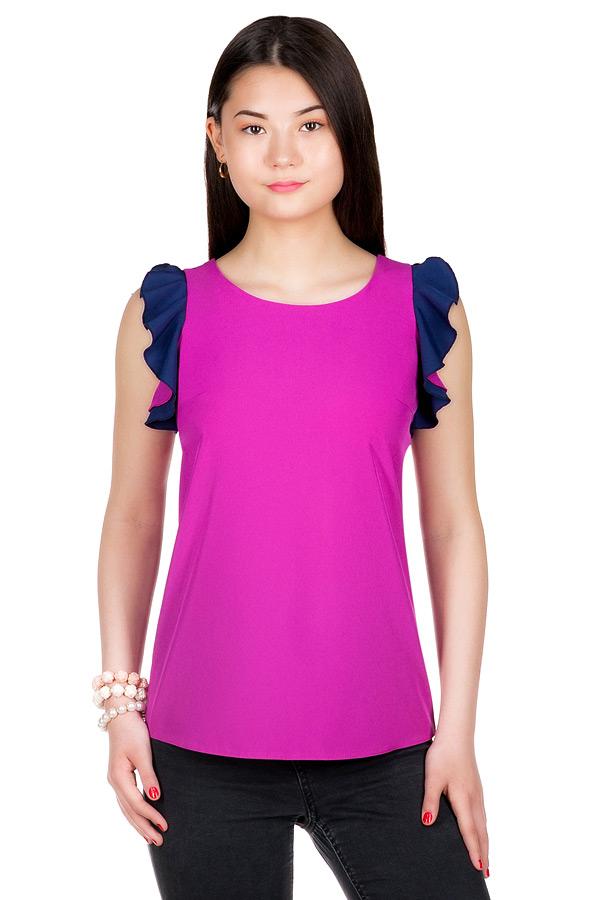 Блуза МР Artis Фуксия+Темно-синий