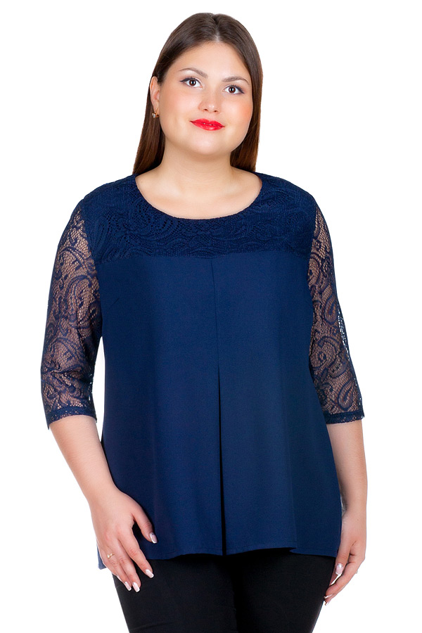 Блуза БР Seraphima Темно-синий